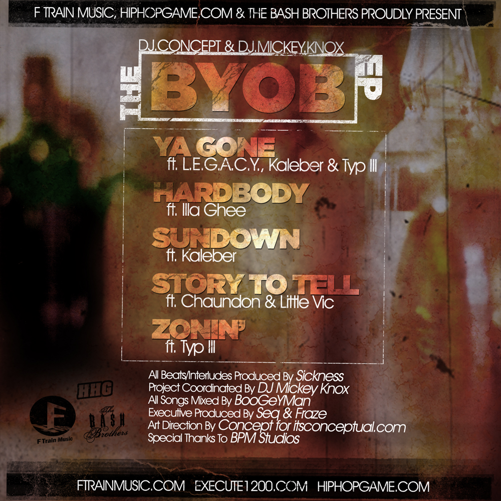 DJ Concept & DJ Mickey Knox: The BYOB EP